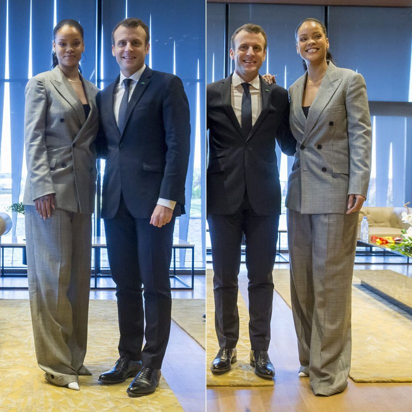 Rihanna Ralph Lauren suit GPE Financial Conference Senegal