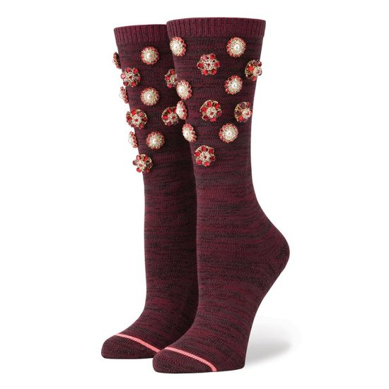 Rihanna x Stance Cold Hearted collection socks in wine