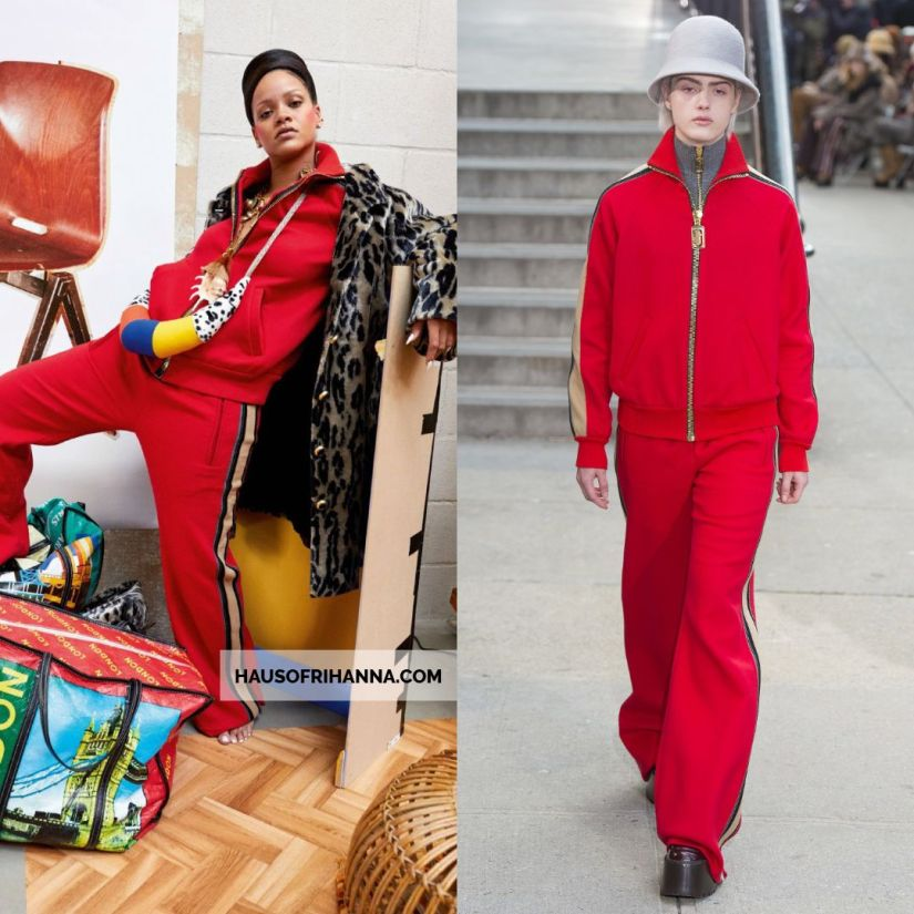 Rihanna Vogue Paris December 2017 Marc Jacobs red tracksuit