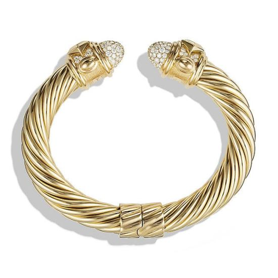 David Yurman Renaissance diamond cable bracelet as seen on Rihanna