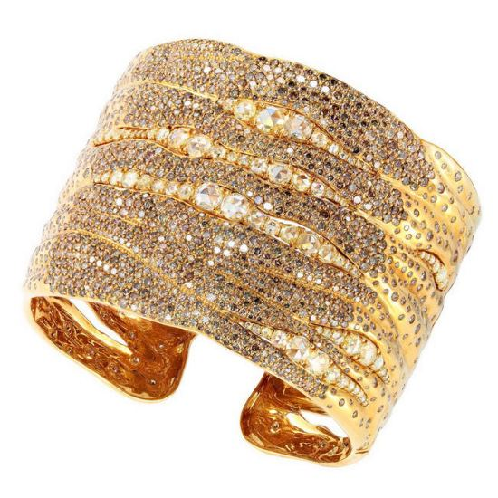 Etho Maria gold Tsiki diamond cuff bracelet as seen on Rihanna