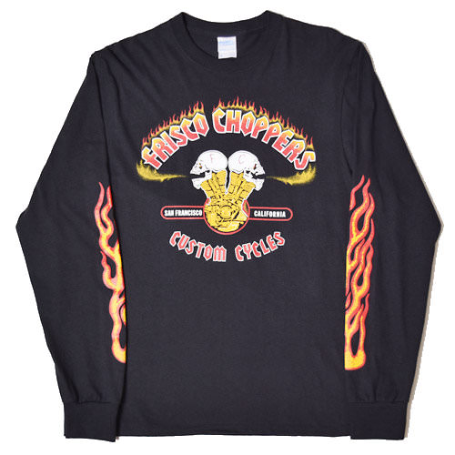 Frisco Choppers vintage flames long sleeve t-shirt
