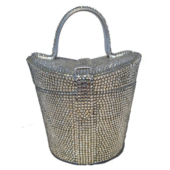Judith Leiber vintage Swarovski crystal basket bag as seen on Rihanna