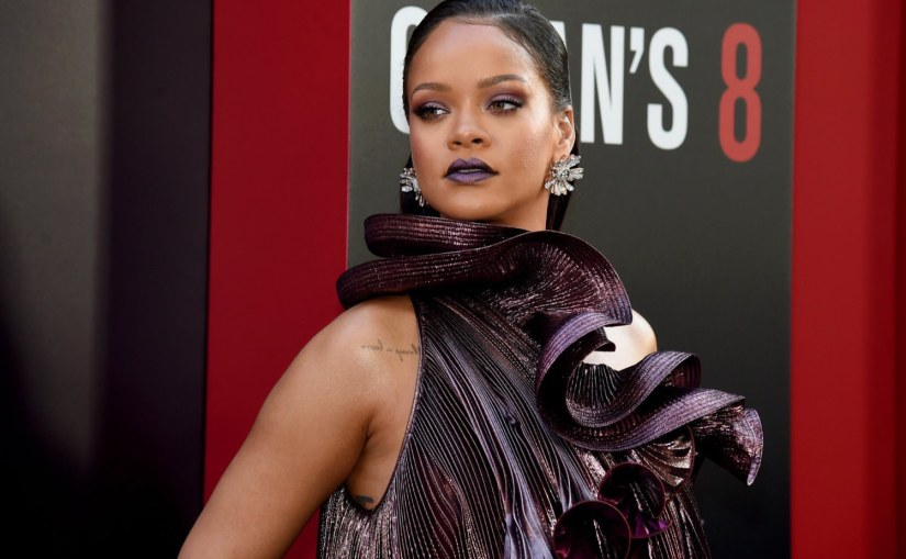 Rihanna Fenty Beauty makeup Oceans 8 premiere New York