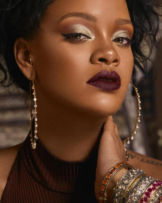 Rihanna Fenty Beauty makeup moroccan spice photoshoot