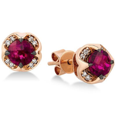 Le Vian garnet stud earrings as seen on Rihanna