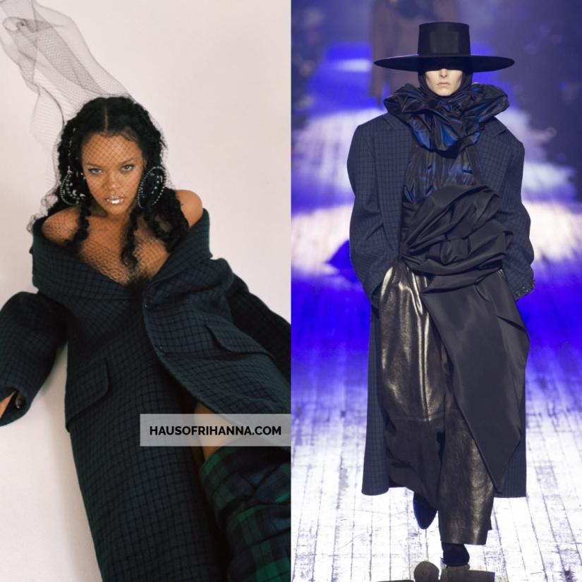 Rihanna Allure magazine Best of Beauty 2018 issue  Marc Jacobs Fall 2018 coat