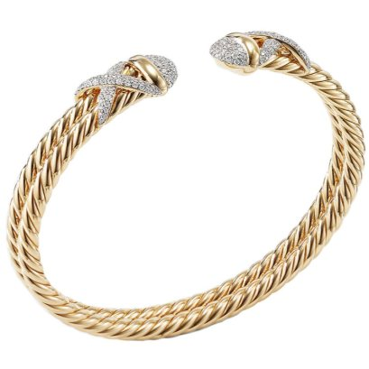 David Yurman pave diamond X crossover bracelet as seen on Rihanna