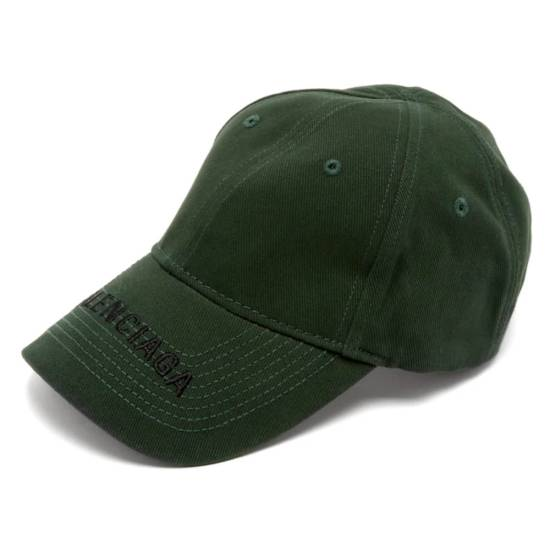 Balenciaga green logo cap as seen on Rihanna