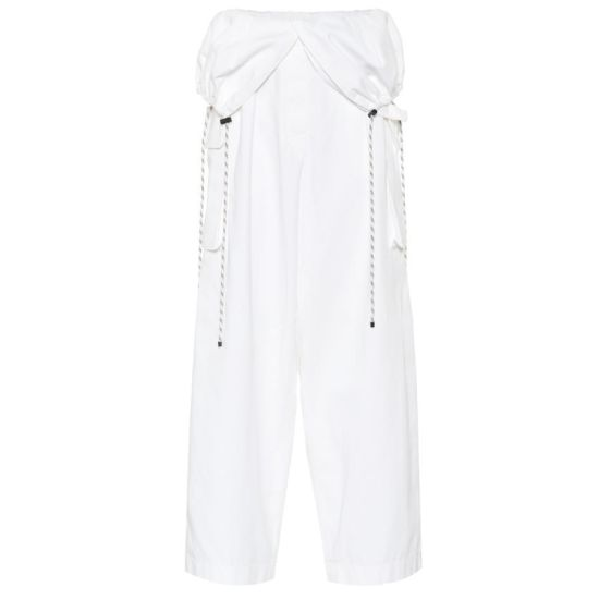 Dries Van Noten white convertible cargo pants as seen on Rihanna