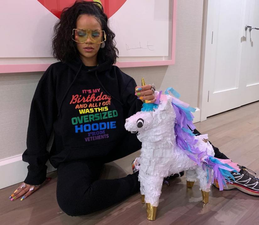 Rihanna Vetements birthday hoodie, Salomon S/Lab XT-6 Softground ADV sneakers
