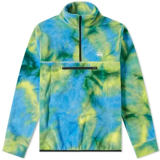 Stussy tie dye mock neck fleece as seen on Rihanna