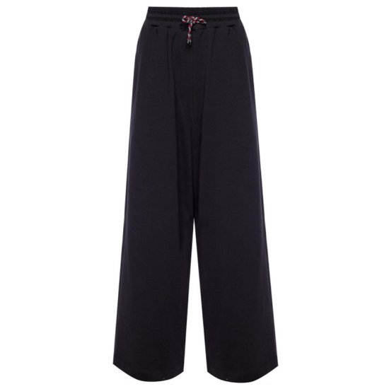 Dries Van Noten Habium wide leg drawstring pant in black as seen on Rihanna