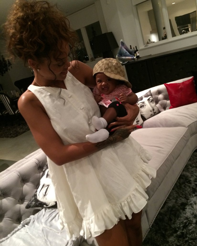 Rihanna white ruffle dress instagram adam selman trapeze dress