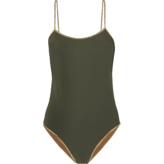 Tooshie green reversible swimsuit as seen on Rihanna
