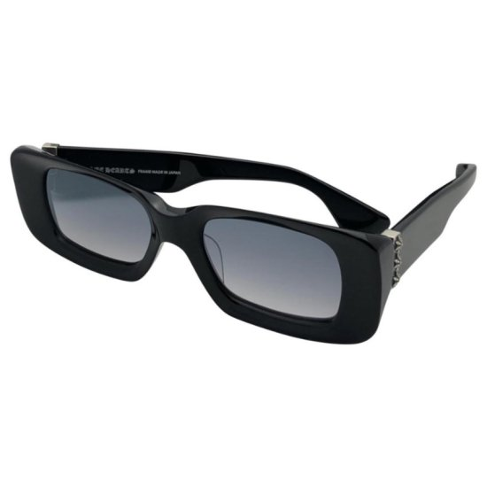 Chrome Hearts Estrel-la black rectangle sunglasses as seen on Rihanna