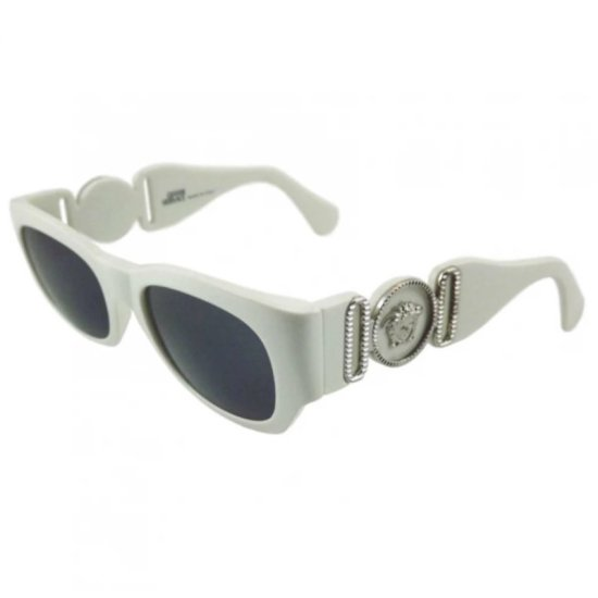 Versace white vintage 413 sunglasses as seen on Rihanna