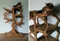 Handmade Cat Tree from Enchanted Home Designs  hauspanther