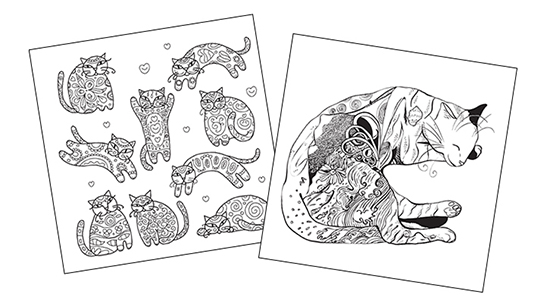 The Cat Coloring Book: Creative Calm for Cat Lovers