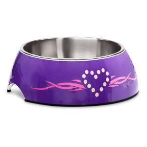 rogz Hundenapf Bubble Bowlz Purple Chrome L (700ml)|M (350ml)|S (160ml)