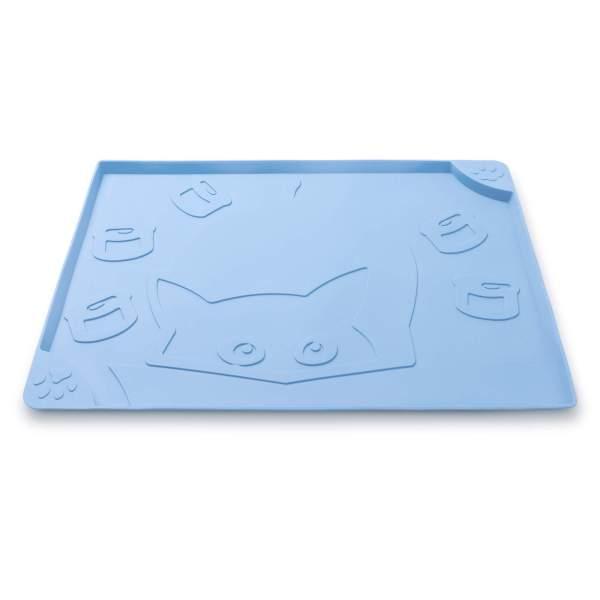 Freezack Napfunterlage Square Cat & Can blau