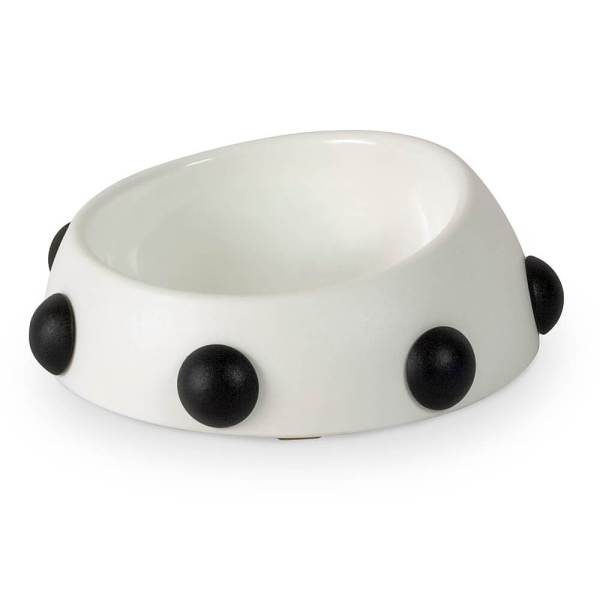 United Pets Hundenapf Boss Bowl with Knobs weiss