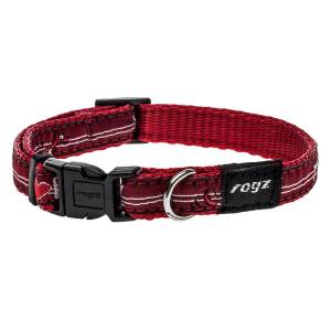 rogz Hundehalsband Fancy Dress Red Heart L (34-56cm) 20mm|M (26-40cm) 16mm|S (20-31cm) 11mm|XL (43-70cm) 25mm|XXL (50-80cm) 40mm