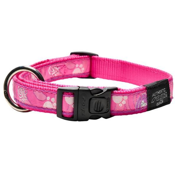 rogz Hundehalsband Fancy Dress Pink Paws L (34-56cm) 20mm M (26-40cm) 16mm S (20-31cm) 11mm XL (43-70cm) 25mm