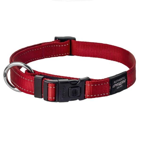rogz Hundehalsband Utility rot L (34-56cm) 20mm|M (26-40cm) 16mm|S (20-31cm) 11mm|XL (43-70cm) 25mm|XS (16-22cm) 11mm