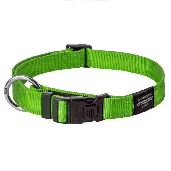 rogz Hundehalsband Utility lime L (34-56cm) 20mm M (26-40cm) 16mm S (20-31cm) 11mm XL (43-70cm) 25mm XS (16-22cm) 11mm