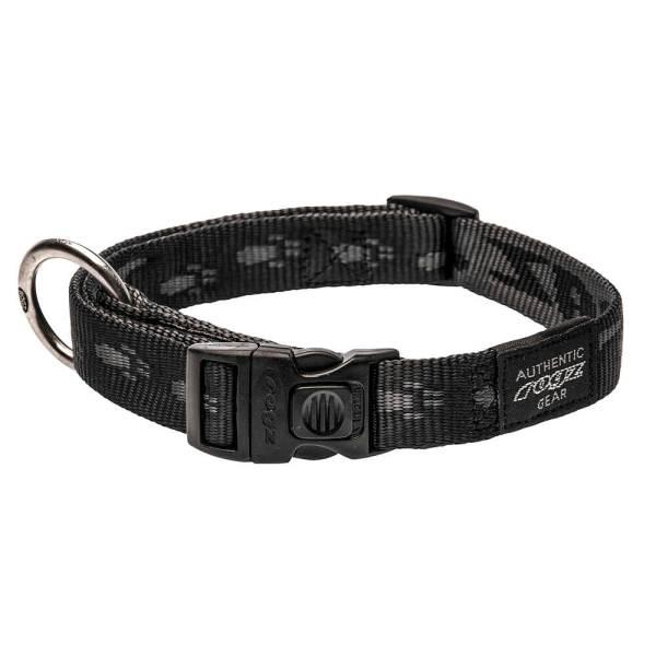 rogz Hundehalsband Alpinist schwarz L (34-56cm) 20mm M (26-40cm) 16mm S (20-31cm) 11mm XL (43-70cm) 25mm XXL (50-80cm) 40mm