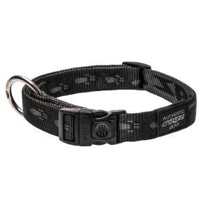 rogz Hundehalsband Alpinist schwarz L (34-56cm) 20mm|M (26-40cm) 16mm|S (20-31cm) 11mm|XL (43-70cm) 25mm|XXL (50-80cm) 40mm