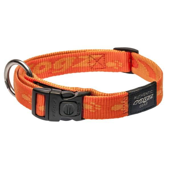rogz Hundehalsband Alpinist orange L (34-56cm) 20mm M (26-40cm) 16mm S (20-31cm) 11mm XL (43-70cm) 25mm XXL (50-80cm) 40mm