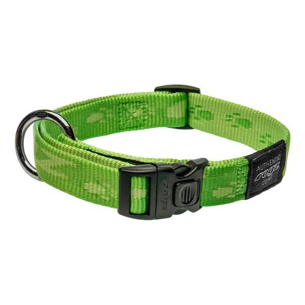 rogz Hundehalsband Alpinist grün L (34-56cm) 20mm|M (26-40cm) 16mm|S (20-31cm) 11mm|XL (43-70cm) 25mm|XXL (50-80cm) 40mm