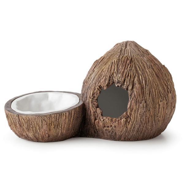Exo Terra Tiki coconut cave & water bowl (21 x 12 x 11.5 cm)