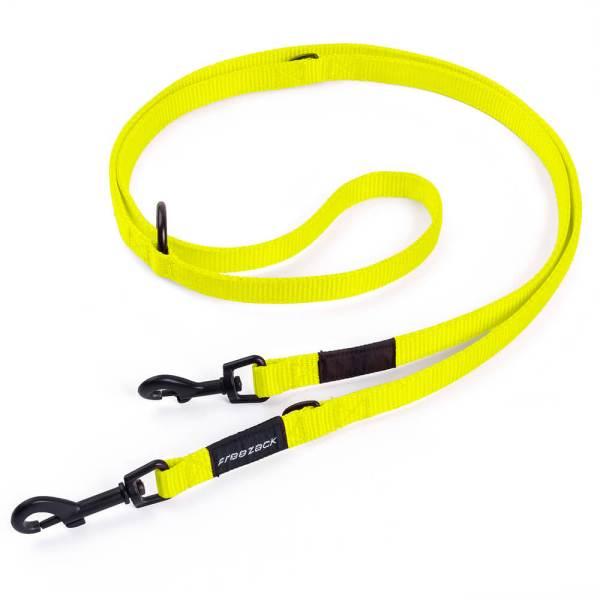 Freezack Hundeleine Nordic Basic neon gelb M (180cm) 15mm