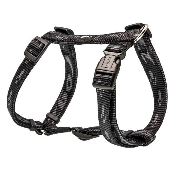 rogz Hundegeschirr Alpinist schwarz L (45-75cm) 20mm|M (32-52cm) 16mm|S (23-37cm) 11mm|XL (60-100cm) 25mm