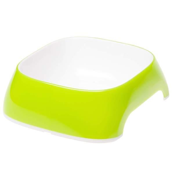 Ferplast Glam green, Kunststoffnapf grün L (23.5x22.5x7cm) 1.2L|M (20x18.5x6cm) 0.75L|S (15x13.5x5cm) 0.4L