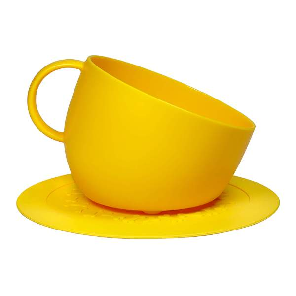 United Pets Cup & Plate Set gelb