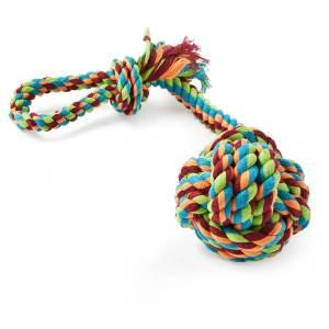 Freezack Hundespielzeug Knotenball mit Schlaufe M (25cm)