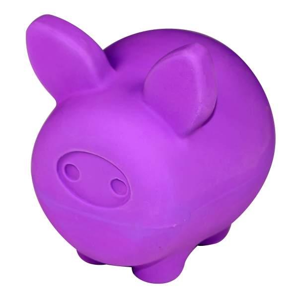 United Pets Latexspielzeug für Hunde Pigs Piggy violett
