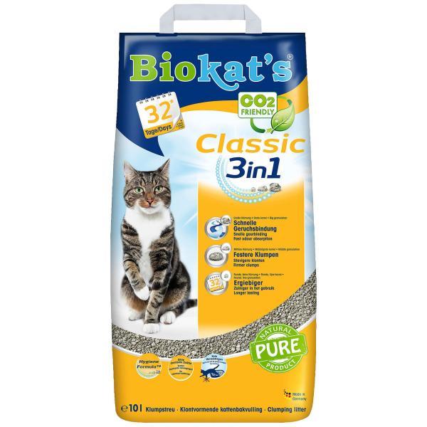 Biokats Katzenstreu Biokats Classic 3in1 (10l)