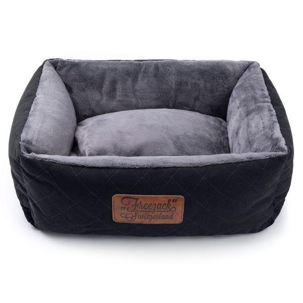Freezack Hundesofa kNight schwarz/grau L (65x55x25cm)|M (55x45x23cm)|S (45x35x21cm)