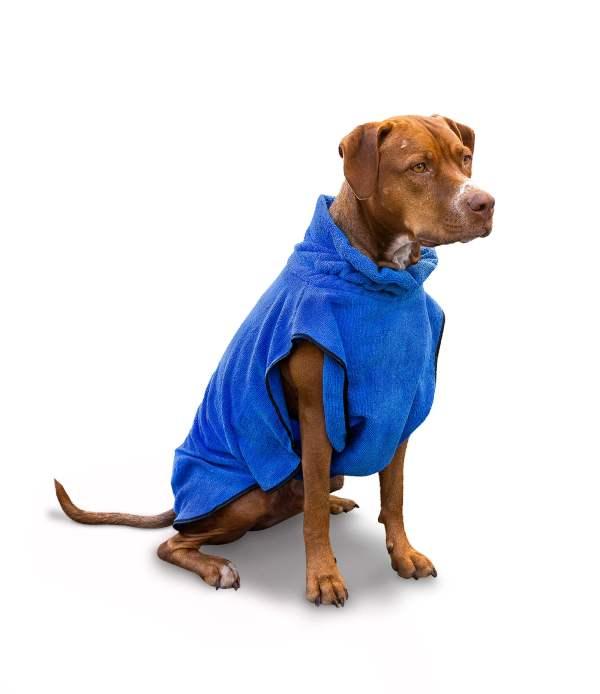 Freezack Bademantel für Hunde blau L (58cm)|M (40cm)|S (28cm)|XL (68cm)|XS (23cm)