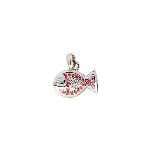 Dog Jewellery Fish rosa