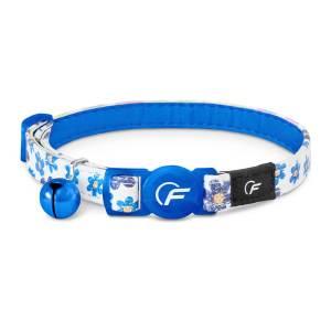 Freezack Katzenhalsband Glitter Flower blau (B)