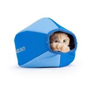 United Pets Cat Cave Basic blau/hellblau