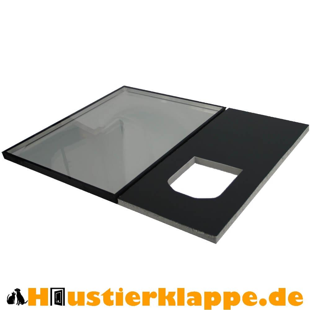 Katzenklappe einbauen in Fenster & Türen mit ™Haustierklappe.de-KITs