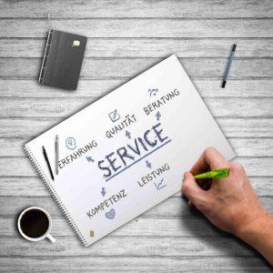 Servicekonzept-Skizze