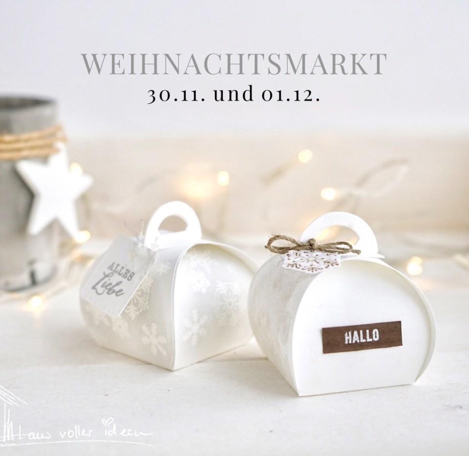 Unser Weihnachtsmarkt im Schloss Hermsdorf. Mini-Zierschachtel in verschiedenen Designs